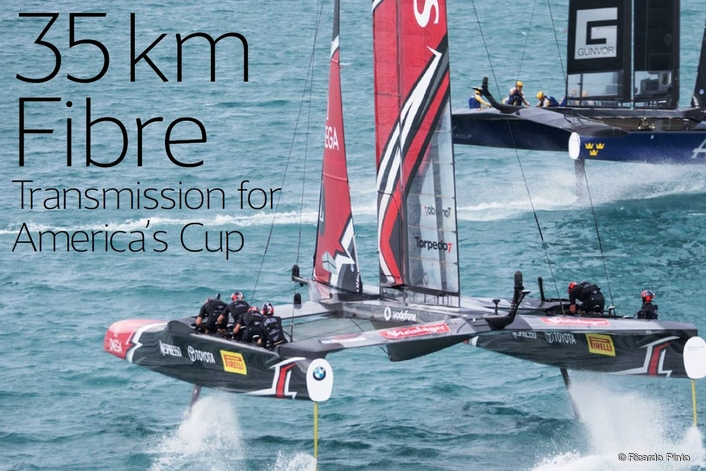 BroaMan Provides 35km Fibre Transmission for America's Cup