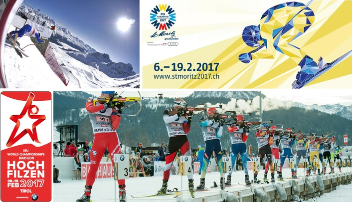 Two Skiing World Championships in February