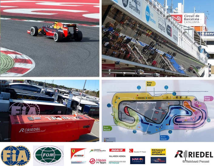Riedel serves all Formula One races world-wide with specialized radio-, intercom- and camera-systems for the FIA race control and various racing teams