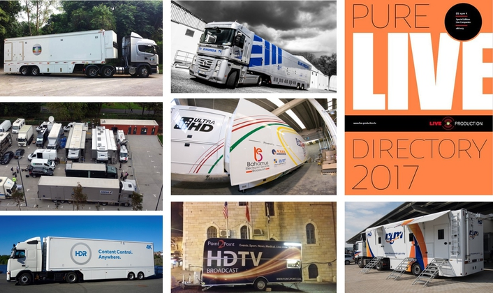 PURE LIVE 2017 with Details on more than 20 HD/UHD OB Trucks