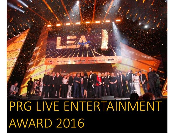 PRG Live Entertainment Award 2016