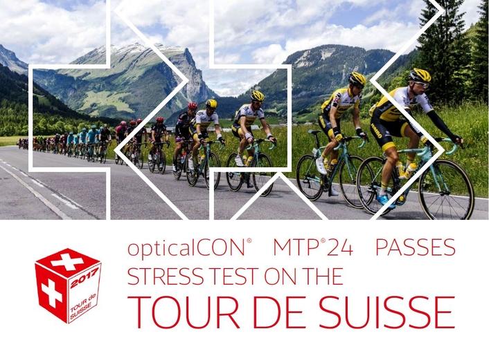 opticalCON® MTP®24 passes stress test on the Tour de Suisse
