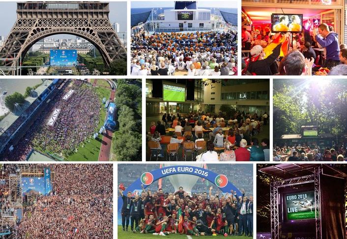 Live TV Celebrates Extra Time During UEFA EURO 2016