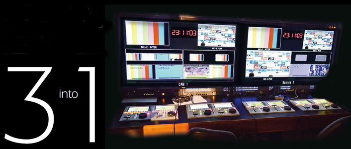 Live TV production, ISO Camera acquisition, post-production: THREE into ONE