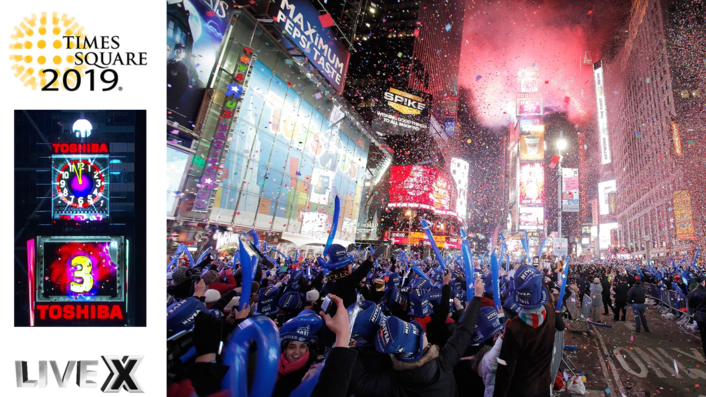 Live X Debuts 4k Mobile Unit for 10th Annual Webcast of Times Square New Year's Eve