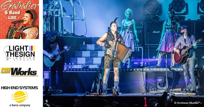 Andreas Gabalier Tours with Powerful HES Rig