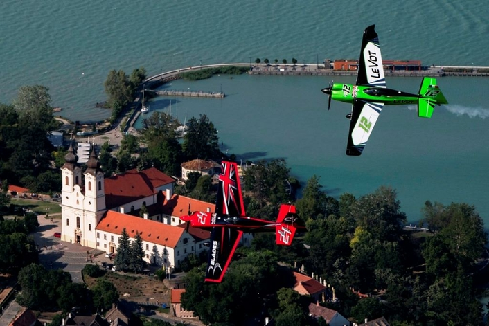 Raceplane flight reveals wonders of Balaton