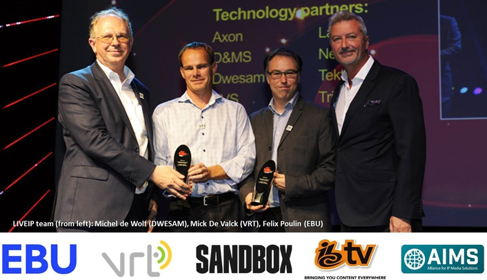 LiveIP Studio Project wins IBC2016 Innovation Award completing a hat-trick of awards