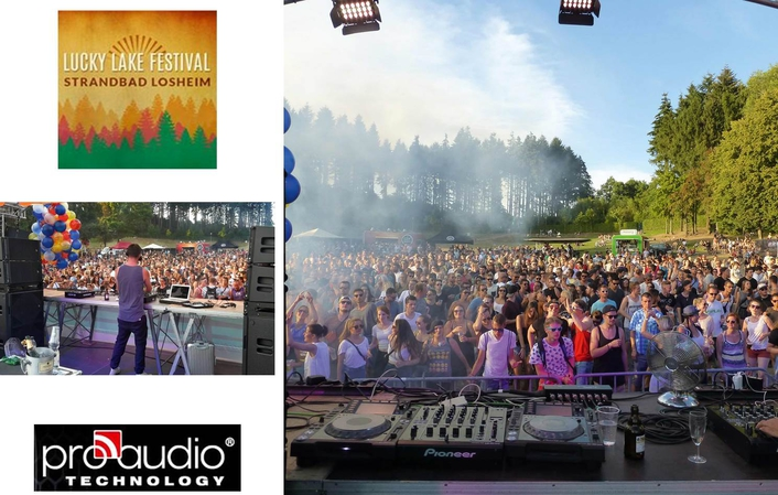 Techno open air on two stages with sound systems from ProAudio Technology
