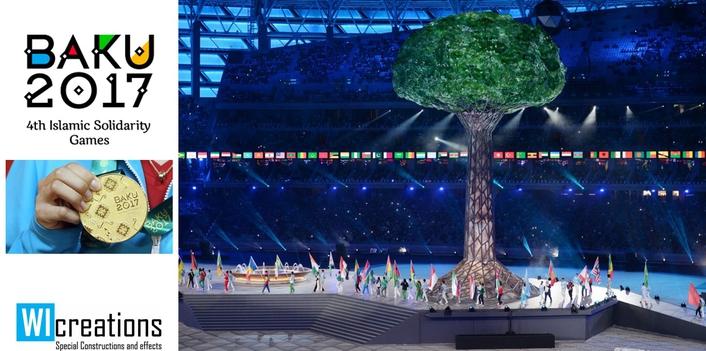 Fountain & Tree for Islamic Solidarity Games  in Baku
