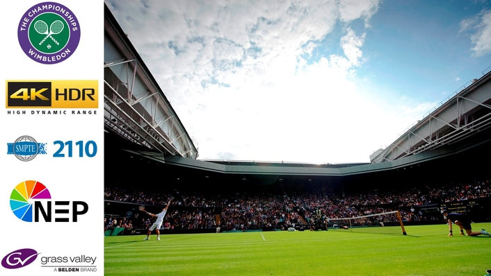NEP aces UHD HDR support for Wimbledon with Grass Valley IP Infrastructure