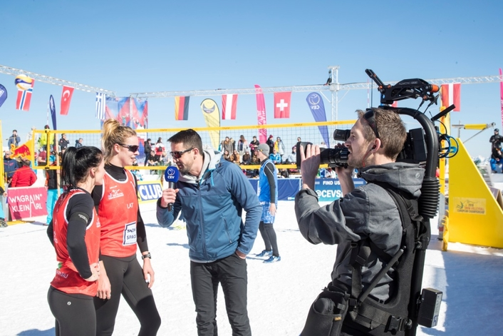 European Snow Volleyball Finals Broadcast Live with Blackmagic Design