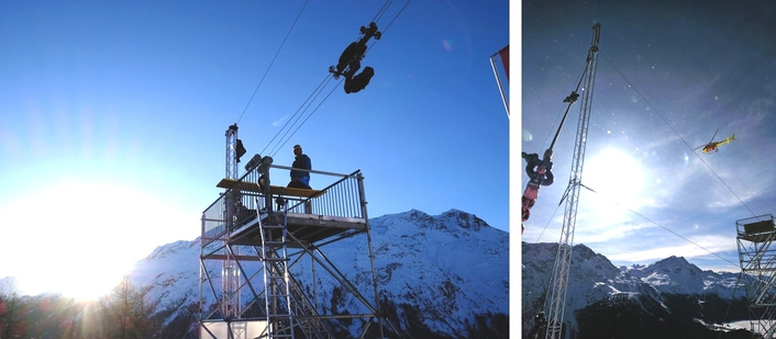 Airtimes' Wingcam at the FIS Alpine World Championships in St Moritz