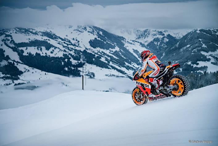 Reigning MotoGP™ World Champion's RC213V takes on Kitzbühel