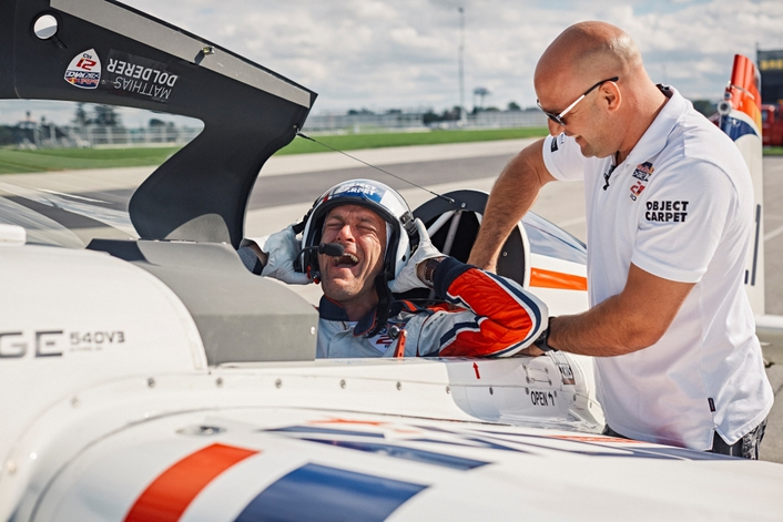 Matthias Dolderer was awarded Germany's first Red Bull Air Race World Championship at the 2016 season finale in Las Vegas, USA on 16 October. Australia's Matt Hall claimed second place overall, with Hannes Arch of Austria honored in third
