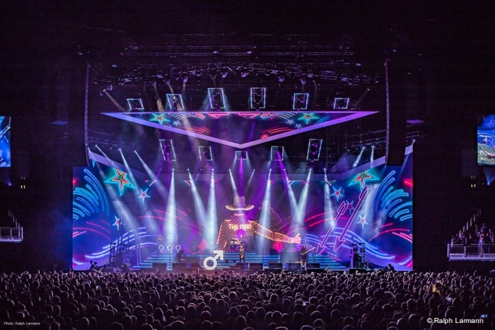 The Killers performed at the O2 Arena in London, with lighting design by Steven Douglas featuring the Claypaky Scenius Unico