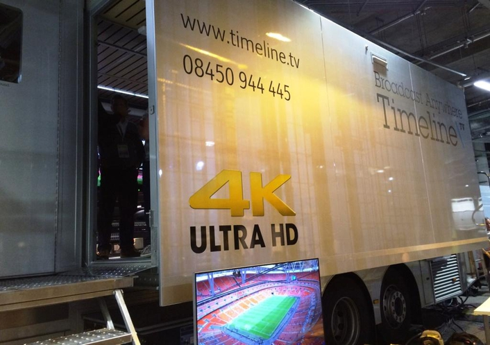 Kahuna switcher and Sirius router serve as the UHD backbone for Timeline's game-changing UltraHD 4K mobile production truck