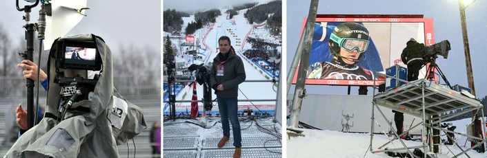 ORF produces lateral signal of FIS Worldcup races with Betamobil and BroaMan