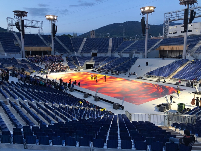 Absen, VISS Display and Alabama combine to deliver the world's biggest LED floor for a once-in-a-generation Swiss spectacular
