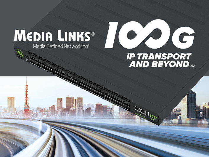 Media Links Showcases 100G Media Switching & 4K/UHD IP Technology Solutions at InterBEE 2019