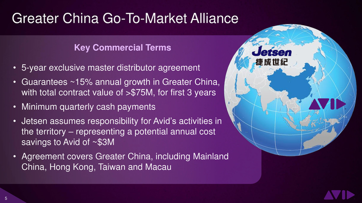 Avid Expands Its Greater China Strategy with Jetsen Alliance