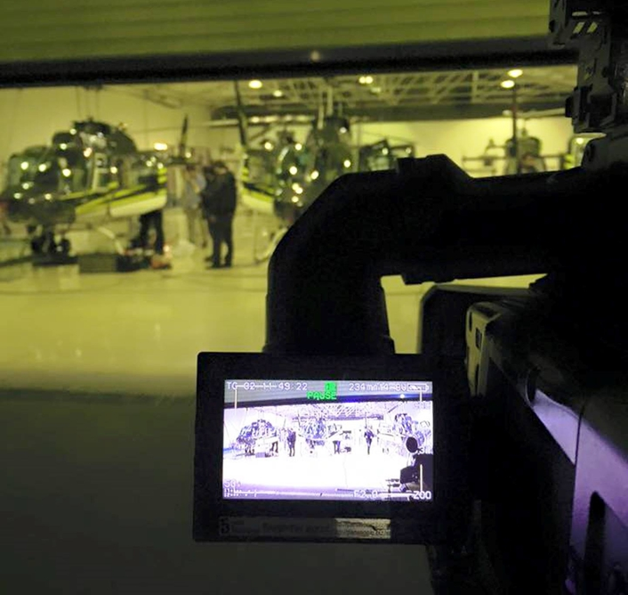 Three helicopters, two Cineflex cameras, three Motocycles and wireless RF systems