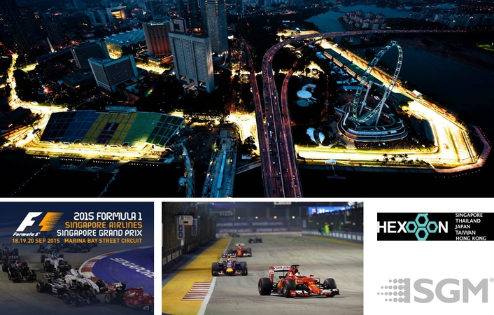 SGM Light for Singapore Skyline at Formula 1 Night Racing