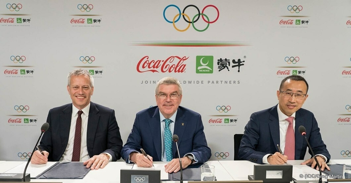 IOC News The IOC, The Coca-Cola Company and China Mengniu Dairy Company Ltd announce Joint Worldwide Olympic Partnership to 2032