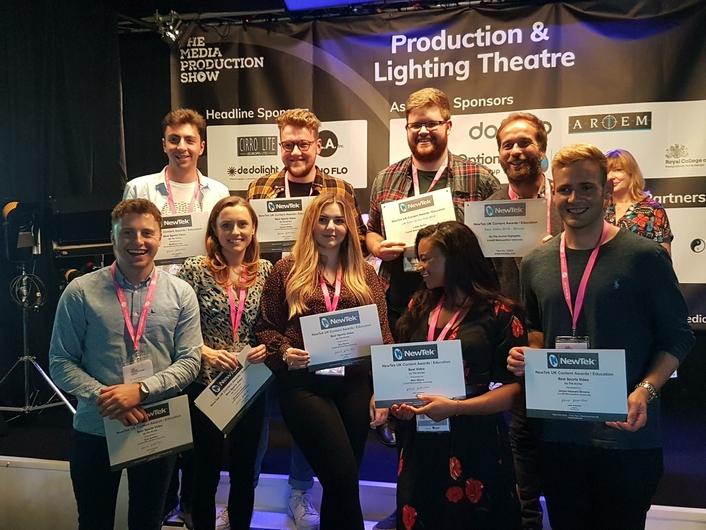 NewTek Announces 2019 Winners of annual UK Education Awards