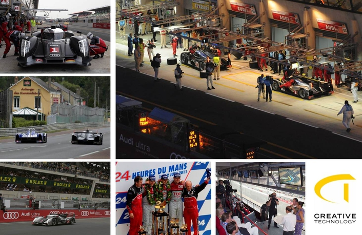 audi triumphs in le mans live production tv. Black Bedroom Furniture Sets. Home Design Ideas