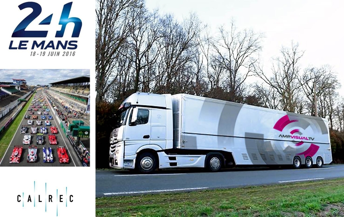 Calrec's in pole position at Le Mans with AMP VISUAL TV