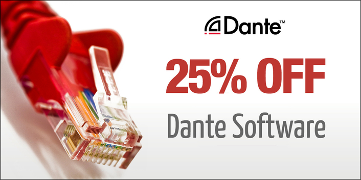 Audinate Announces 25% Off Dante Software Promotion
