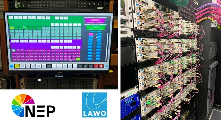 NEP selects Lawo IP Routing, Processing and Multiviewers for new M15 truck