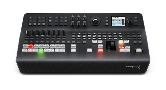 The world's most advanced all in one Ultra HD live production switcher with 8 standards converted 12G-SDI inputs, Fairlight audio mixer, ATEM Advanced Chroma Keyer, multiview, talkback, DVE and more!