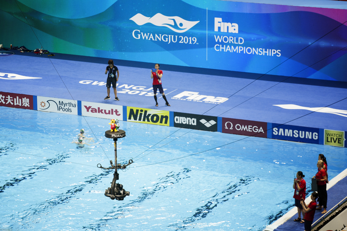 Movicom provides specialty cameras for swimming events