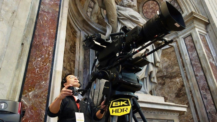 Christmas Eve Mass, by Vatican Media broadcast live in Sony 4K Ultra HD, with additional 8K recorded capture test