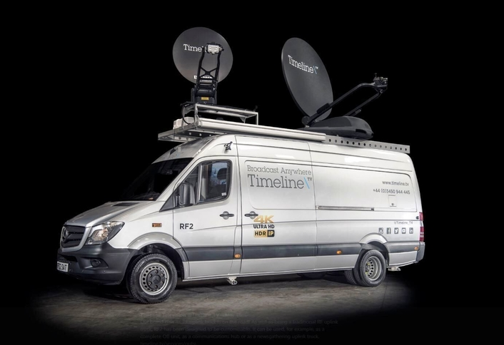 TSL Products Maintains Audio Contribution Feeds for  Timeline's RF Uplink Trucks