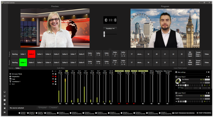 Quicklink completes its professional contribution workflow with launch of all-in-one hybrid switcher