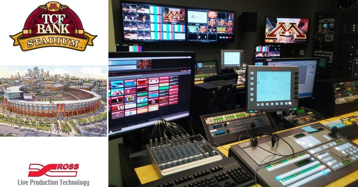 Tcf Bank Stadium Live With Ross Video Live Production Tv