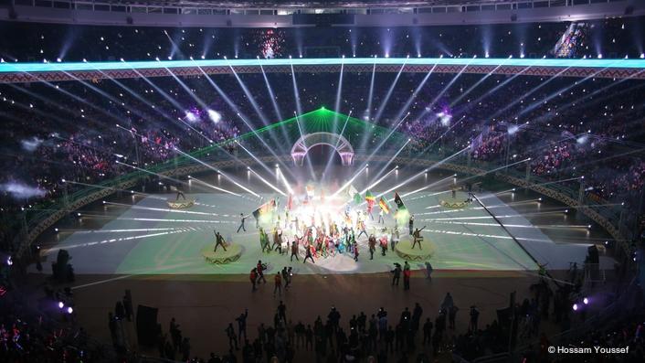 OVER 300 PR LIGHTING FIXTURES WOW AFRICAN HANDBALL NATIONS CROWD