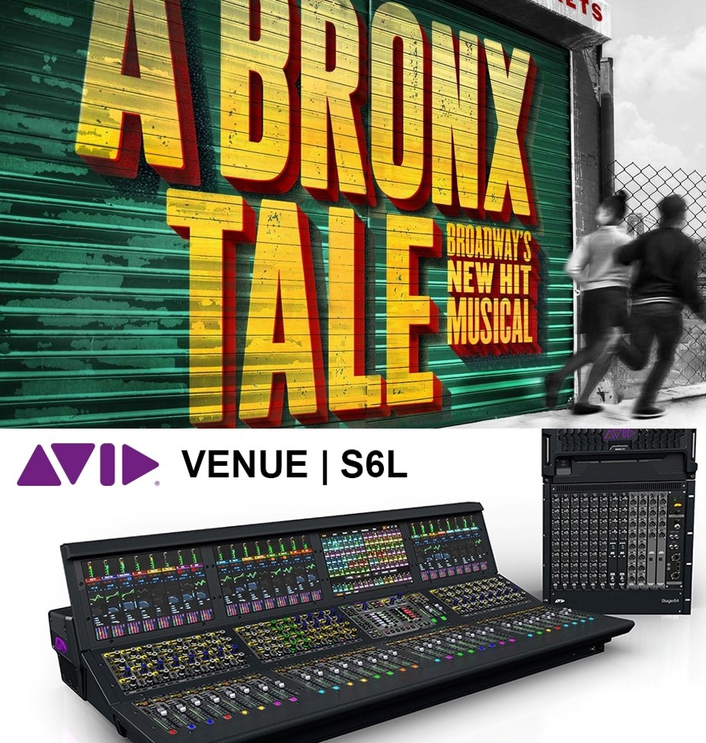 Avid VENUE | S6L Powers the Creative Mix For Broadway Hit A Bronx Tale