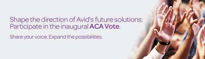 Avid Launches Unprecedented Vote of the ACA to Empower Customer Community to Shape Collective Future