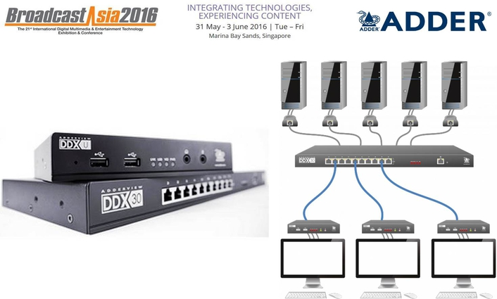 Adder Technology brings new IP-based KVM solutions to BroadcastAsia2016