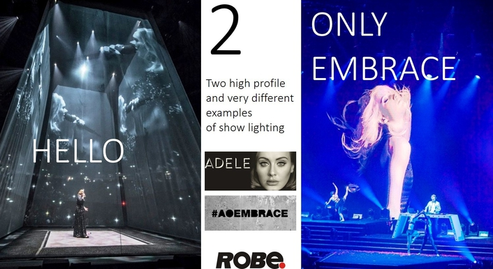 Two high profile and very different examples of show lighting