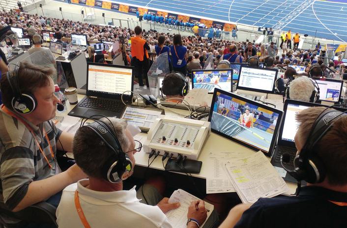 THE NEW OLYMPIA 3 COMMENTARY UNIT WERE DEPLOYED ACROSS ALL THE VENUES OF THE EVENT, OPERATING OVER IP NETWORKS