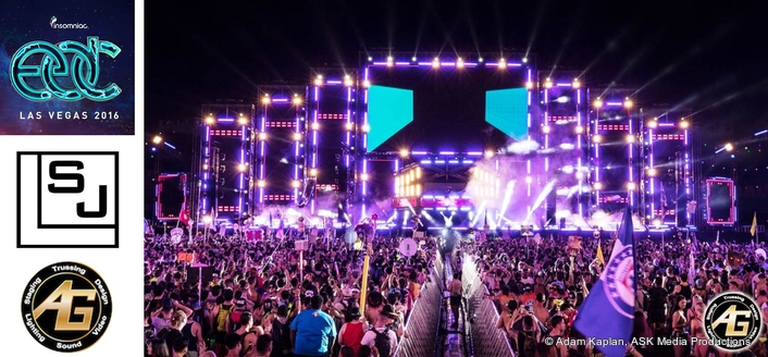 EDC's Circuit Grounds Stage Comes Alive with SJ Lighting and AG Production Services