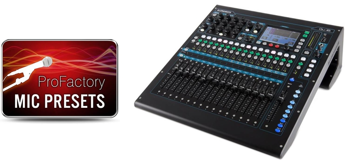 ALLEN & HEATH OFFERS MORE PRESETS FOR INDUSTRY LEADING MICROPHONES