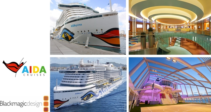 AIDA Cruise Integrates Onboard AV Solution with Blackmagic Design