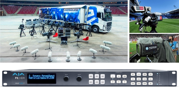Ekstraklasa Live Park, Host Broadcaster of the Polish Football Premiere League Ekstraklasa, Taps AJA FS-HDR for HDR Live Production