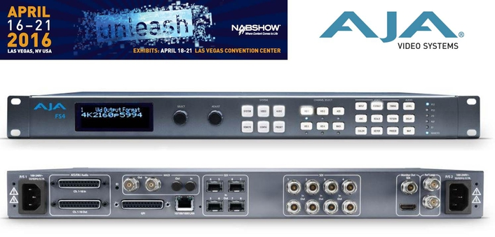 AJA Unveils FS4 Frame Synchronizer and Converter